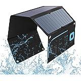 28W Solar Panel, BigBlue Portable Solar Charger with Digital Ammeter, 2USB(5V/4A Max Overall), Folding SunPower Solar Panels