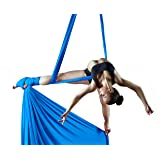 Orbsoul Complete Aerial Silks Deluxe Equipment Set - Everything You Need (Includes Premium Tricot Silks, Hardware and Set-Up Guide)