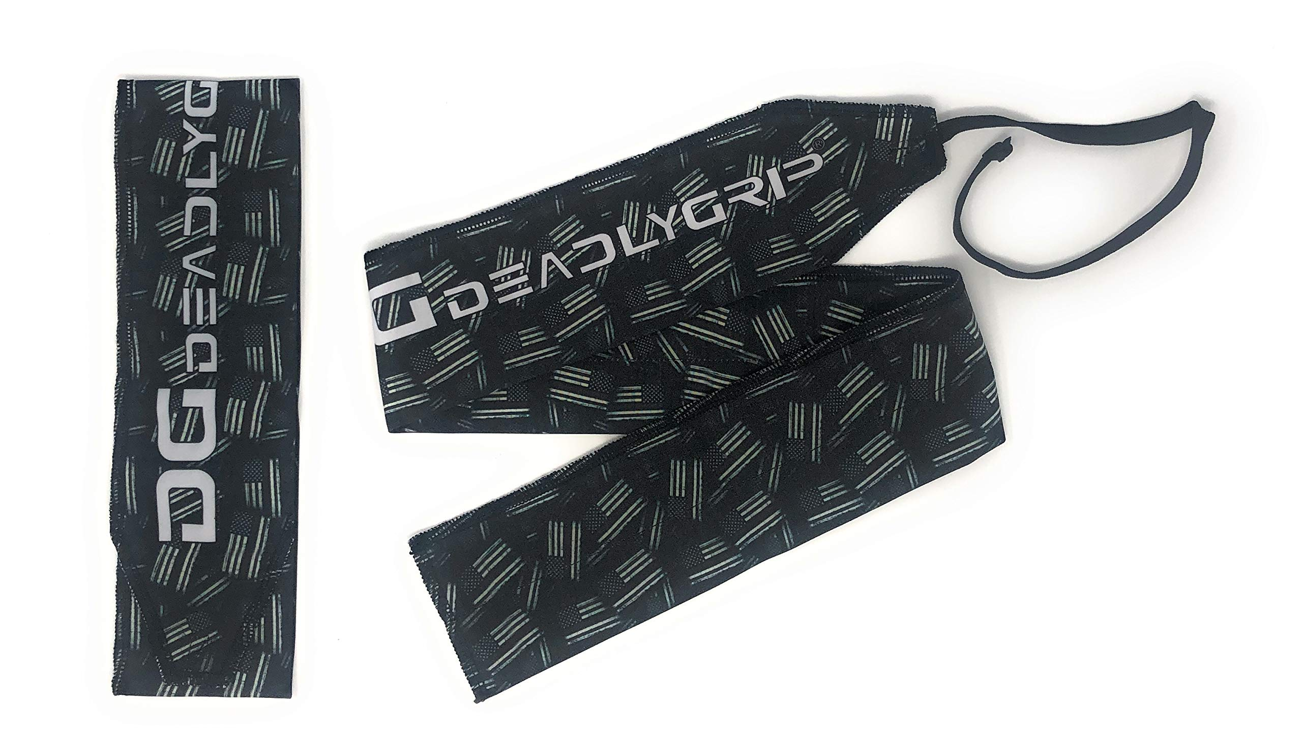 Deadly Grip DG Wrist Wrap. for Maximum Wrist Support Special for Crossfit, Power Lifting, Calisthenics and More. (Flag)