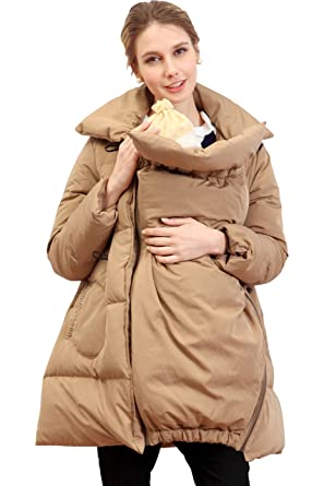 1da62a66d Sweet Mommy Maternity and Mother s Down Duffle Coat with baby ...