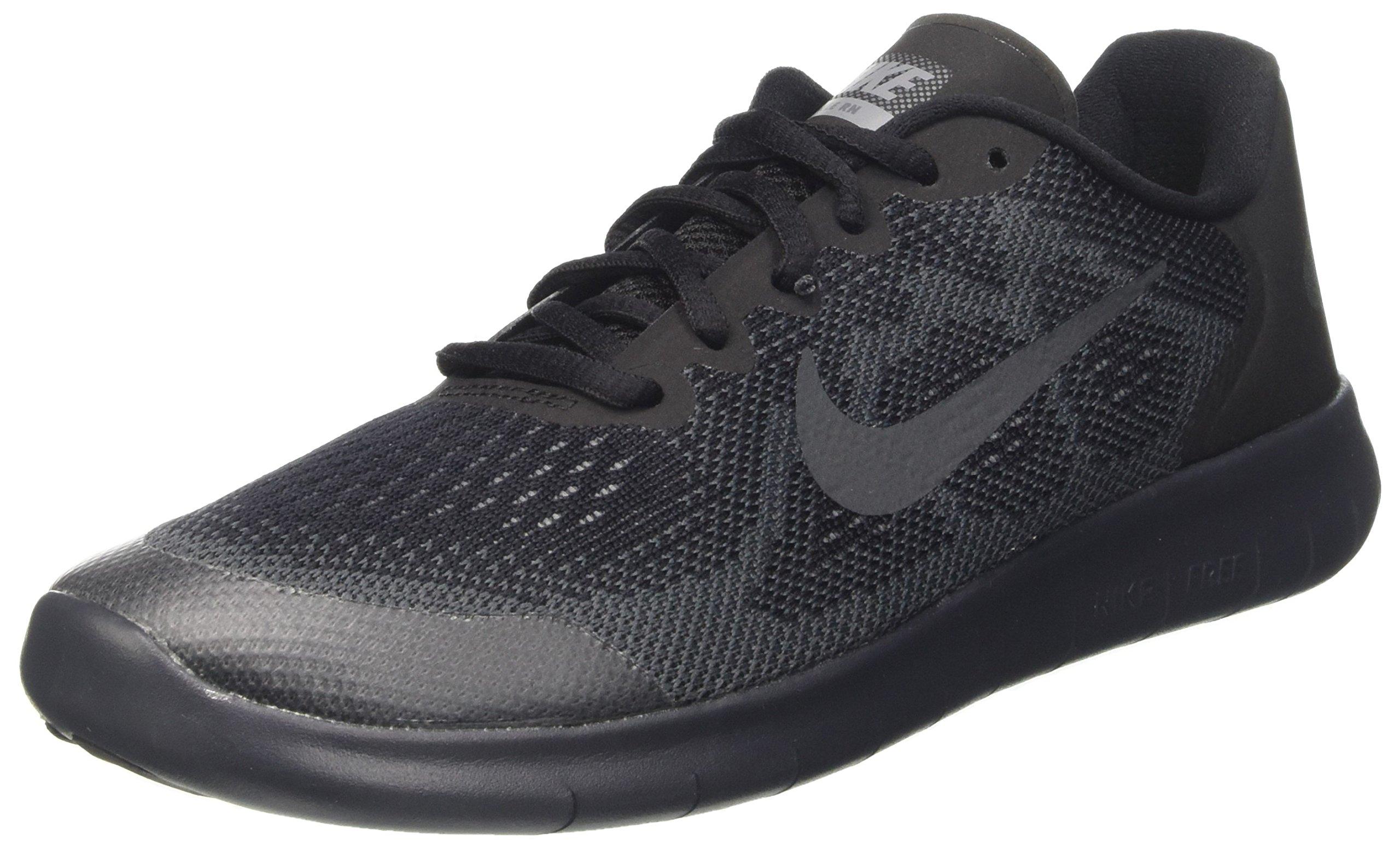 Nike Kids Free Rn 2017 (GS) Black/Anthracite/Dark Grey Running Shoe 4 Kids US