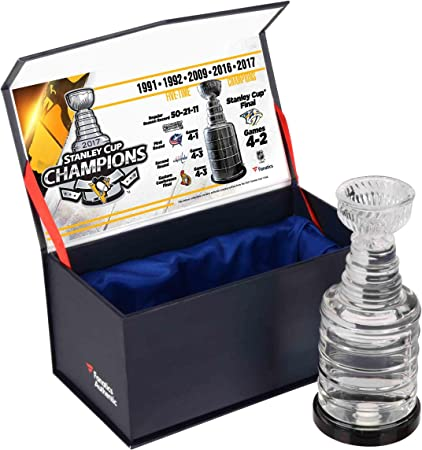 Pittsburgh Penguins 2017 Stanley Cup Champions Crystal Stanley Cup Trophy -  Filled With Ice From the 856b0e089