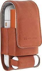 StilGut - Cover per set sigarette elettroniche iQOS 3 in 1, Cognac