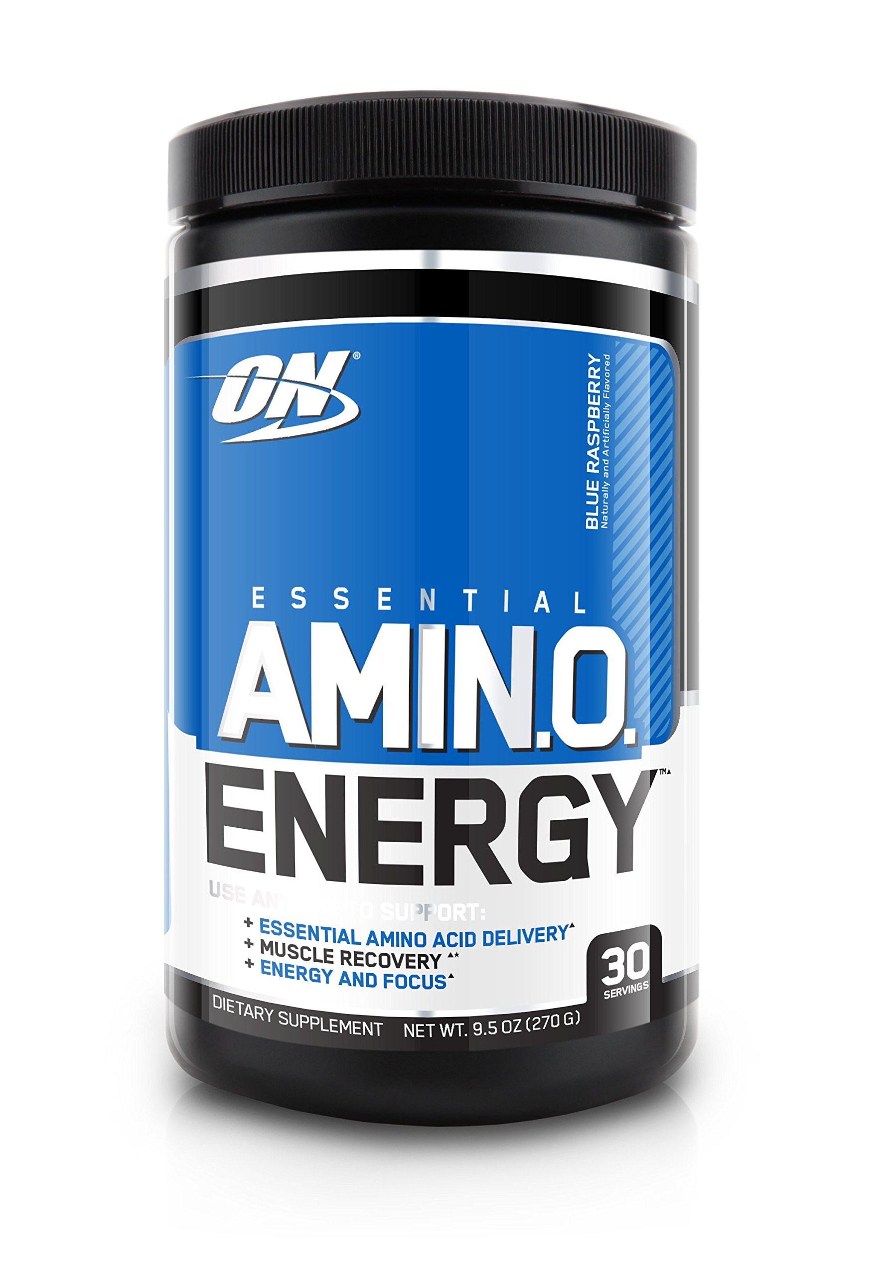 Optimum Nutrition Amino Energy, Blue Raspberry, Preworkout and Essential Amino Acids with Green Tea and Green Coffee Extract, 30 Servings