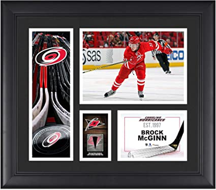 Brock McGinn Carolina Hurricanes Framed 15 quot  x 17 quot  Player Collage  with a Piece of 797a89586