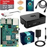 ABOX Raspberry Pi 3 B+ (B Plus) Ultimate Starter Kit with 32GB Class 10 SanDisk Micro SD Card Noobs, 3A On/Off Switch Power S
