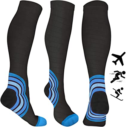 9f3fbbbec Compression Socks for Women   Men - 20-30 mmHg - Best Flight Compression  Stockings for Flying - Travel - Running - DVT - Skiing - Athletics - Nurses  ...