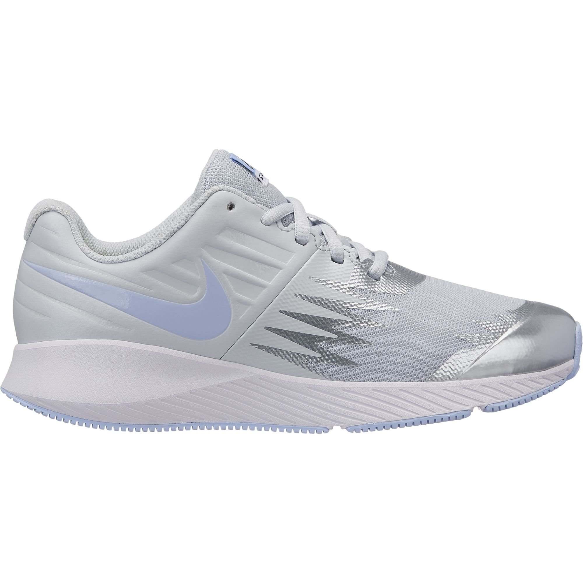 Nike Girl's Star Runner (GS) Running Shoe Pure Platinum/Royal Tint/White Size 3.5 M US by Nike (Image #1)
