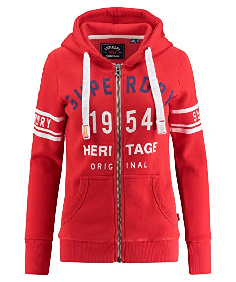 Shirt Rouge Superdry Femme Sweat RougeVêtements Et OP8kn0w