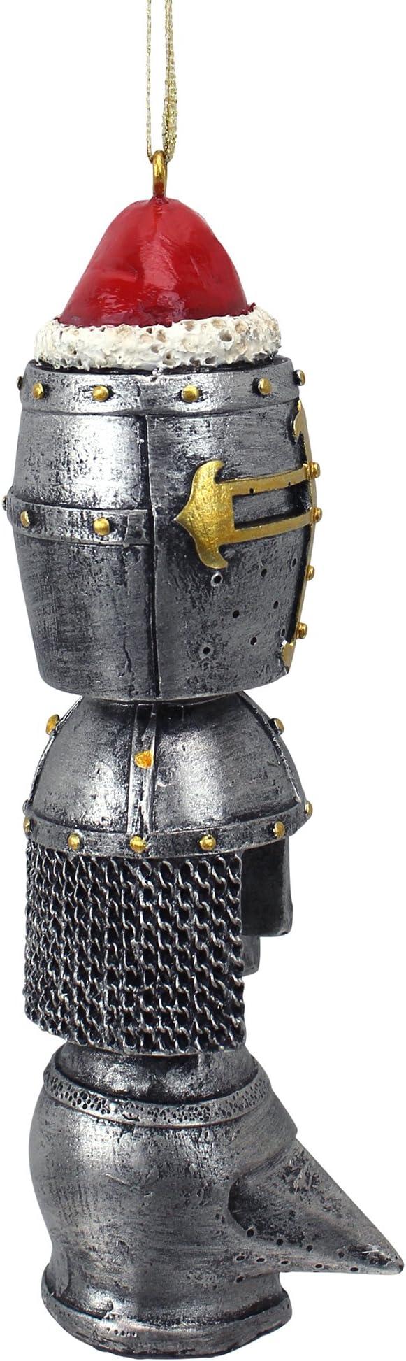 12,5/x 4/x 12,5/cm de la Marca Resina Adorno de Vacaciones Pack of 1 Design Toscano T/ótem de Cascos Medievales