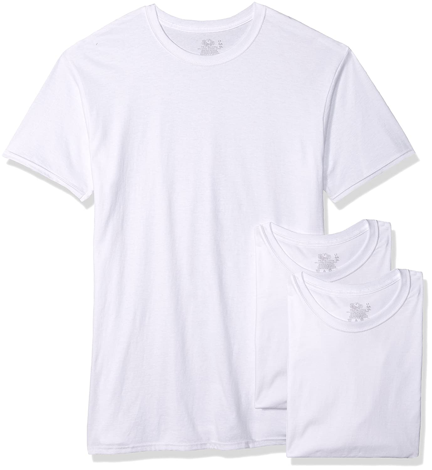 Fruit of the Loom Men's 3-Pack Tall Size Crew-Neck T-Shirt 2790TM