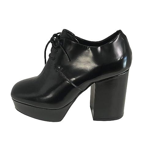 nuovo economico sconto assolutamente alla moda Vic Matie' Scarpa Stringata Donna Nero in Pelle con Tacco cm 8 ...