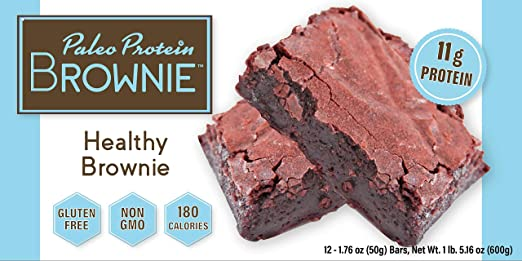 Paleo Protein Brownie Bar | Box of 12 | Gluten Free & Non GMO | 11g Protein | 180 Calories best paleo bars