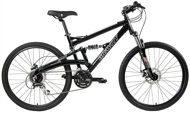 2020 Gravity FSX 1.0 Dual Full Suspension Mountain Bike with Disc Brakes, Shimano Shifting