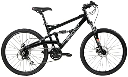 2020 Gravity FSX 1.0 Dual Full Suspension Mountain Bike with Disc Brakes (Black, 17in) best downhill bikes