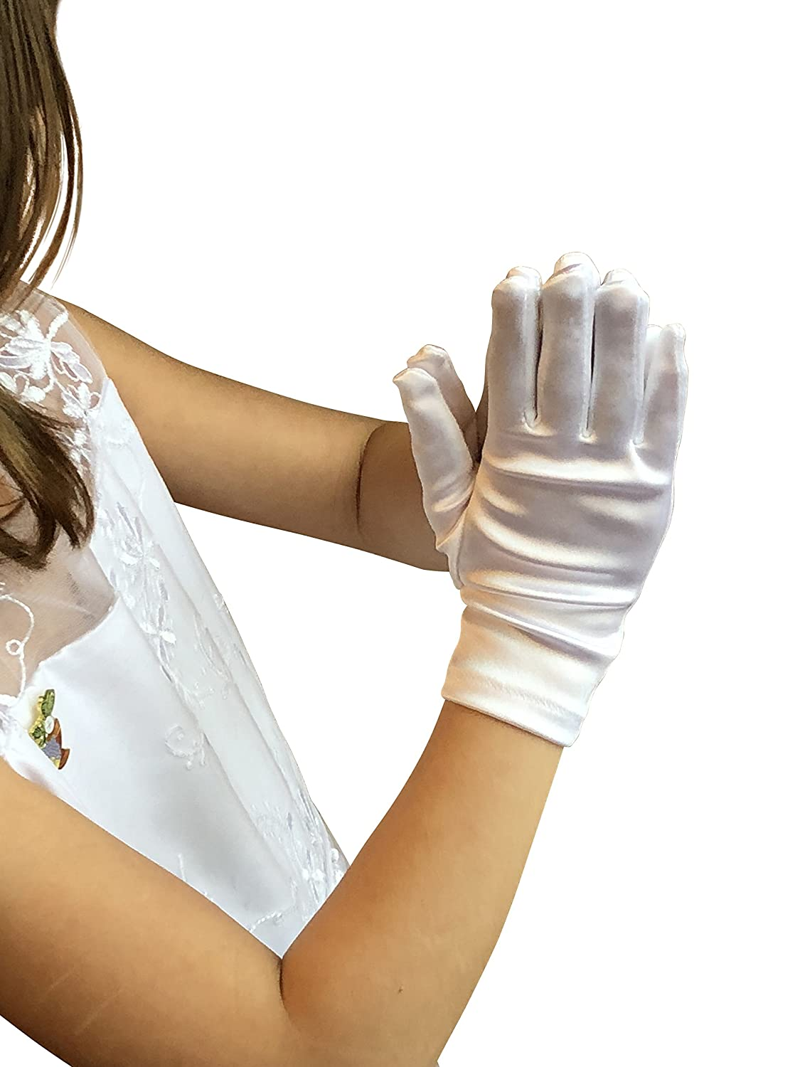 first communion gloves Satin Fancy Gloves for Special Wedding or Communion