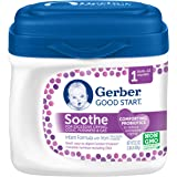 Gerber Good Start Soothe Non-GMO Powder Infant Formula, Stage 1, 22.2 Ounce (Pack of 6)