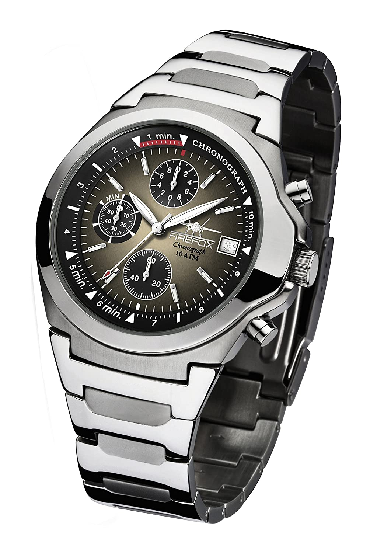 FIREFOX CLASSIC FFS06-102h sunray mocca Chronograph Herrenuhr Armbanduhr Sicherheits- Faltschließe 10 ATM water