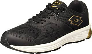 Lotto Men's Black/Gold Running Shoes - 8 UK/India