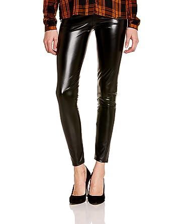 Dim Tregging Effet Cuir - Leggings - 100 Den - Femme - Noir - FR  42  (Taille Fabricant  L)  Amazon.fr  Vêtements et accessoires 1f52b1585fe