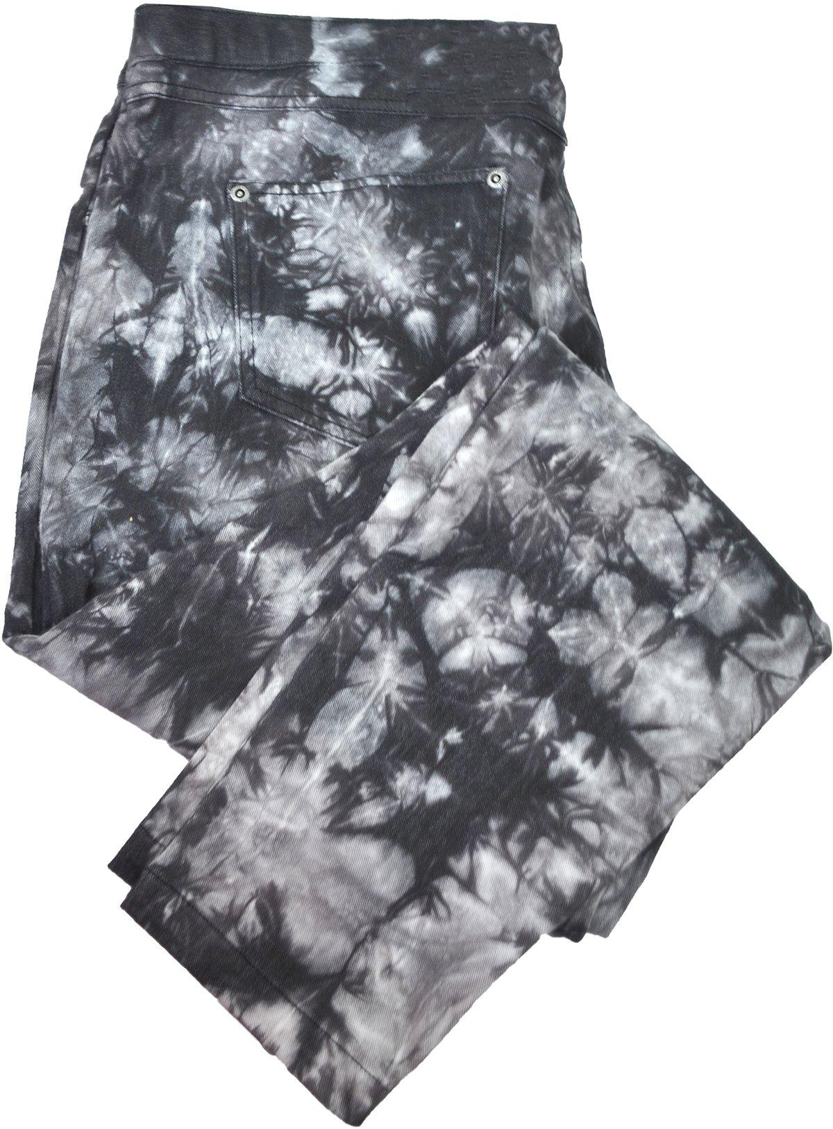 Hue Womens Tie Dye Denim Skimmer Leggings X-Large Black