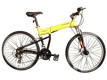 ECOSMO 26AF18Y - Bicicleta plegable (suspensión, más de 18 velocidades)