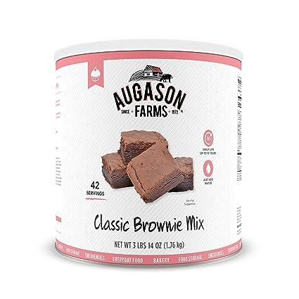 Amazon.com: Augason Farms Classic Chocolate Brownie Mix 3 lbs 14 oz ...