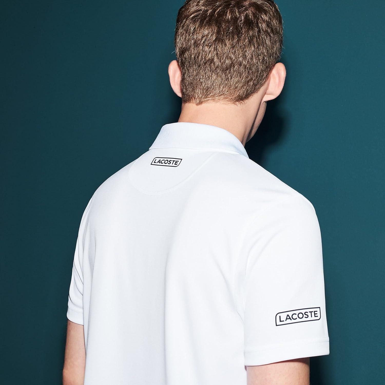 Lacoste Striped Novak Djokovic Polo, Blanco, Azul Marino y ...