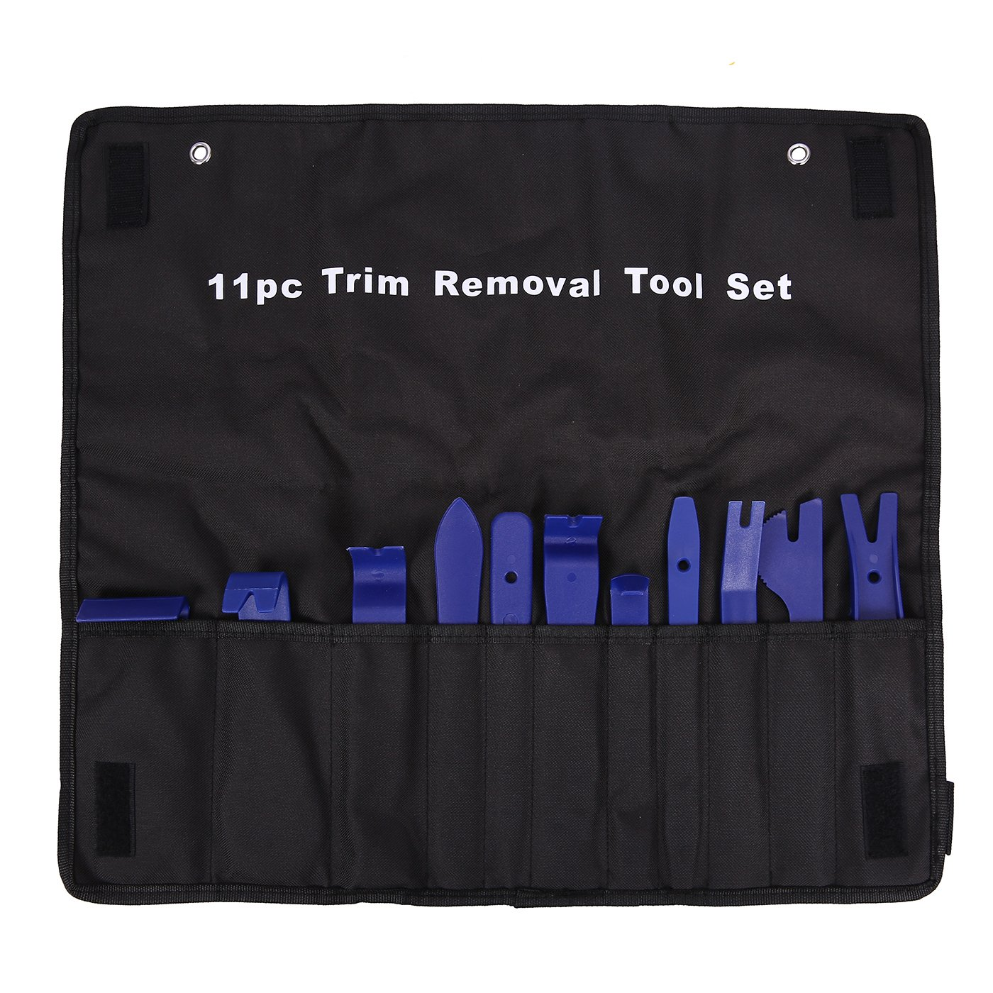 HDE Auto Trim Removal Tool Kit Non Marring Pry Bar Set for Auto Door Trim Molding Repair 11 Piece Set with Carrying Case