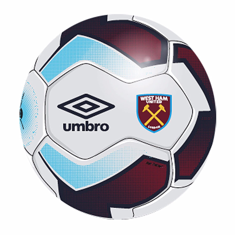 West Ham United FC - Balón de fútbol Umbro (talla 5) (Talla 5 ...