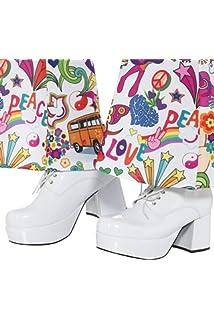 37b2c0486d6 Black Mens 60s 70s Platform Shoes 7-8  Bristol Novelty  Amazon.co.uk ...