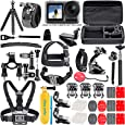 50 Piece Accessory Kit for DJI Osmo Action 4K Camera Action-Cam Bundle