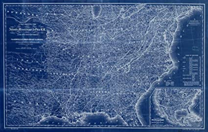 Amazon 8 x 10 blueprint style reprint 1867 a map showing the 8 x 10 blueprint style reprint 1867 a map showing the atlantic mississippi ohio rr malvernweather Gallery