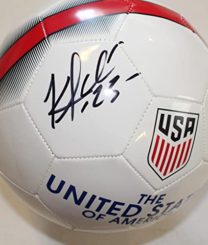 a138427fb1b Image Unavailable. Image not available for. Color  Kellyn Acosta Signed USA  Nike Soccer Ball ...