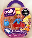 DC Super Heroes Polly Pocket Dressed As Super Girl Costume Figure