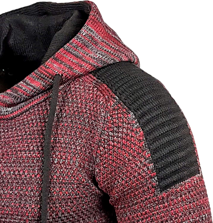 Baxboy Kapuzenjacke Herren Winter Top Kapuzenpullover Rei/ßverschluss Pulli Sweatshirt Jacke RN-13277 Neu