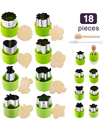 Gimars Large + Small Stainless Steel Cookie & Vegetable & Fruit Cutters Shapes Sets, Mini