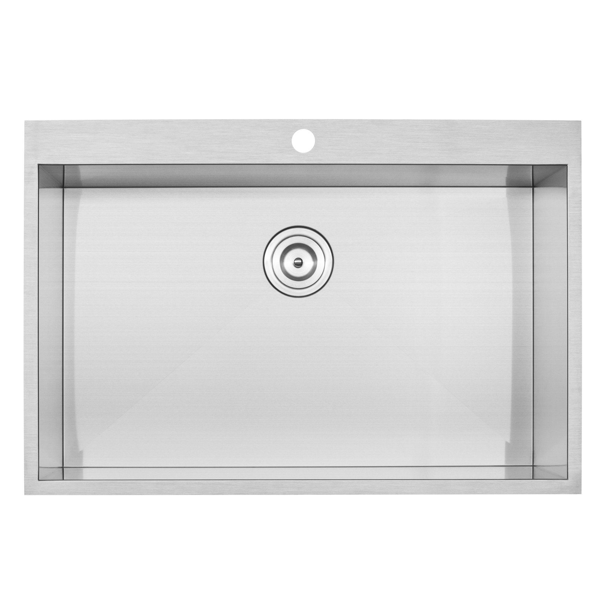 Phoenix 18 Gauge 304 Grade Stainless Steel Single Bowl Overmount Kitchen Sink by Phoenix