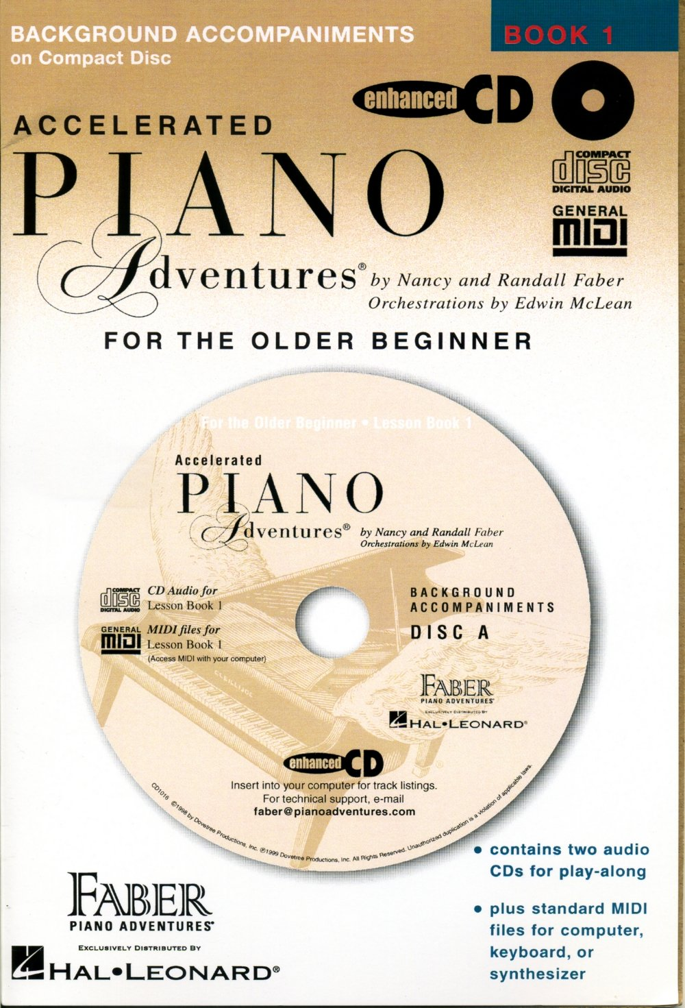 Accelerated Piano Adventures for the Older Beginner Lesson Book 1 2-CD Set by Faber Piano Adventures