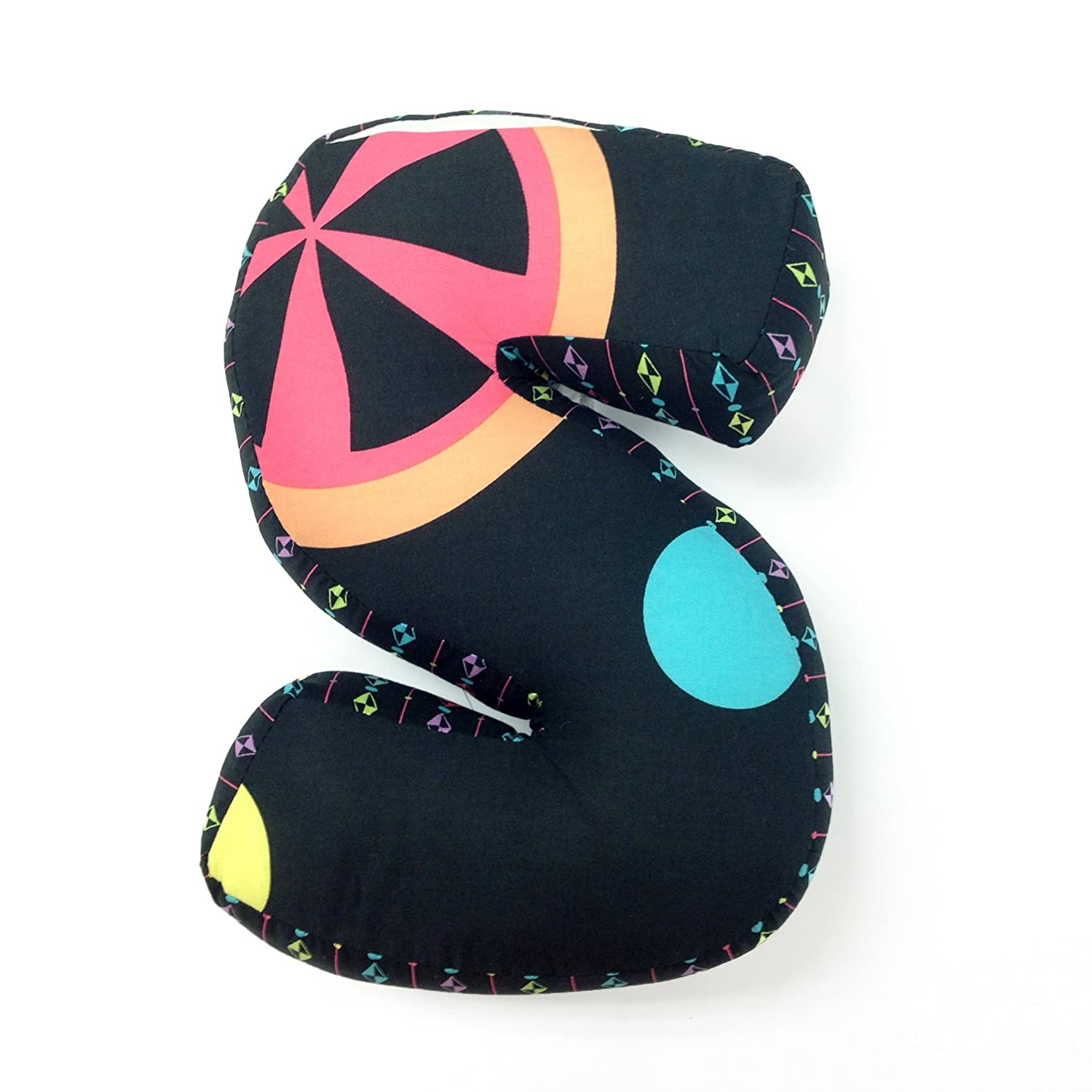 One Grace Place Magical Michayla Letter PillowS Purple and Turquoise Black