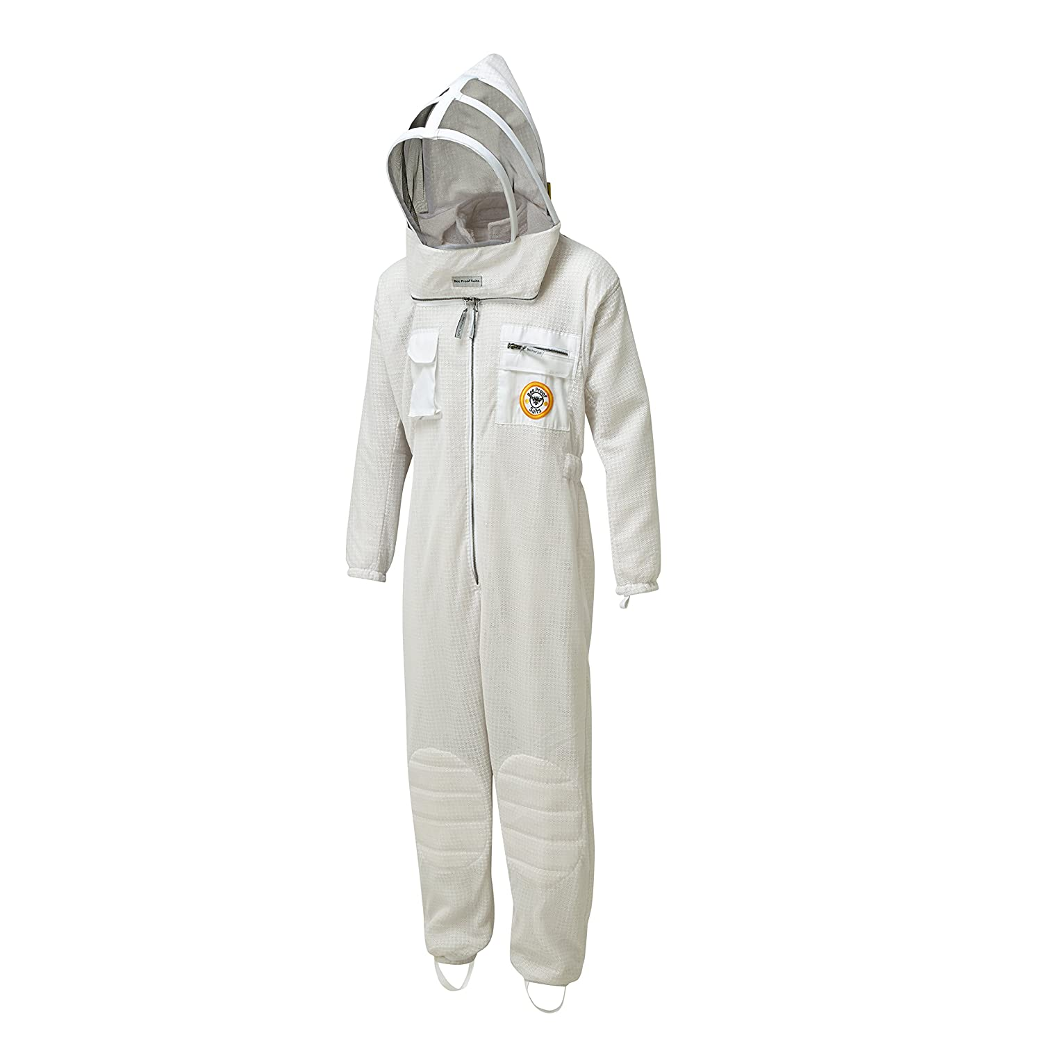 Bee Proof Suits Zonda Ventilated Bee Suit Triple Layer Mesh Fabric with both Throwback Hood and Traditional Round Hat Large L