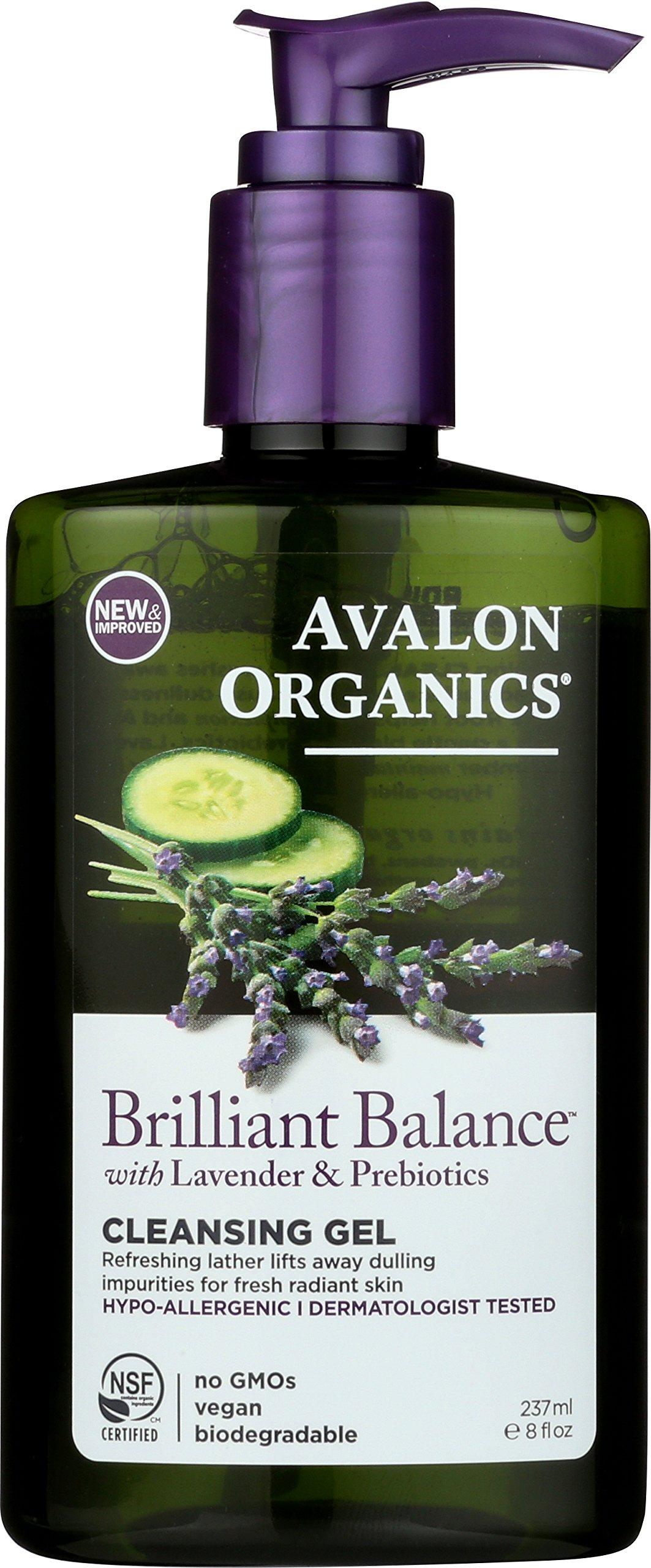 Avalon Organics Brilliant Balance Cleansing Gel, 8 Fluid Ounce