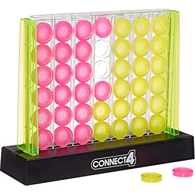 Hasbro Gaming Connect 4 Neon Pop Board Game Strategy Game for Kids Ages 6 & Up for 2 Players: Toys & Games