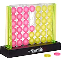 Hasbro Gaming Connect 4 Neon Pop Board Game