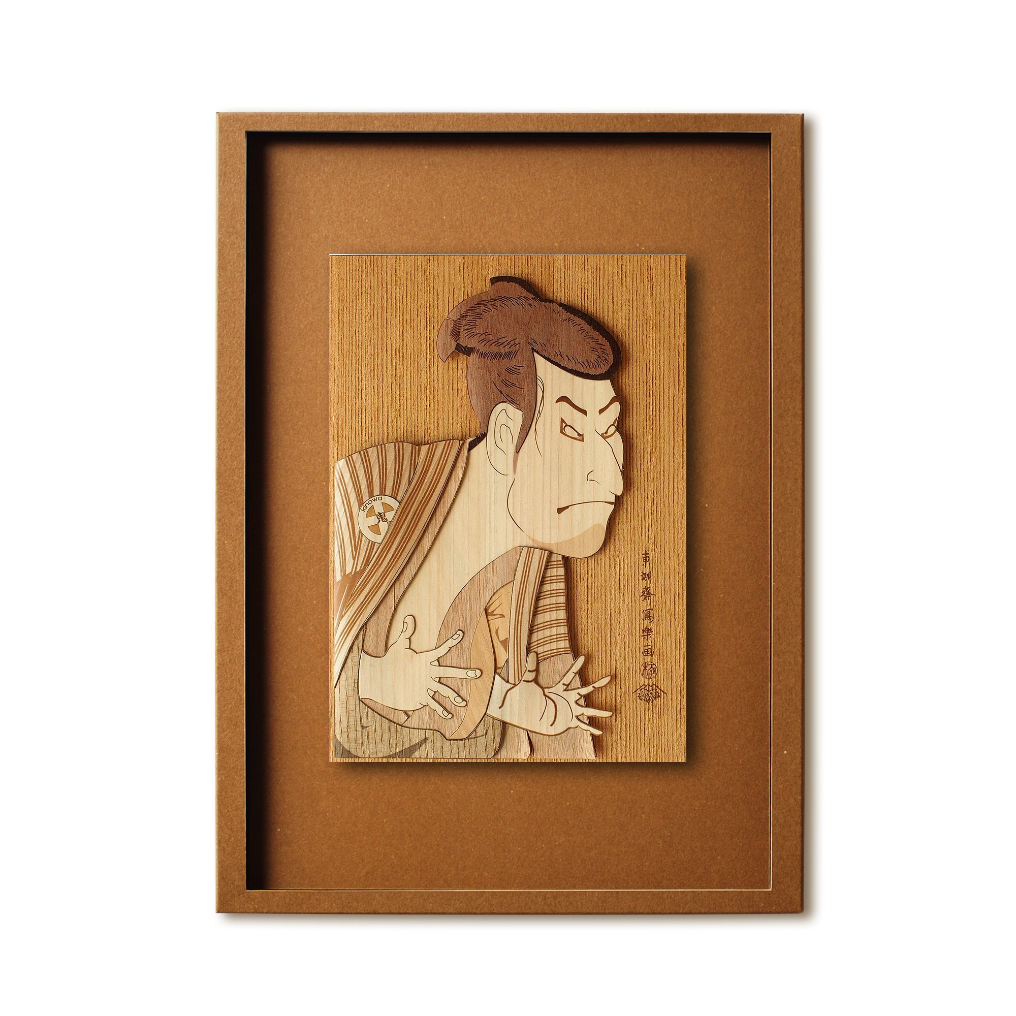 KINOWA Ukiyoe Art Kit Kiharie Actor Otani Oniji 3rd As The Yakko Edobei Made in Japan by KINOWA