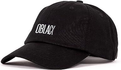 Oblack Gorra Negra Gorras de Hombre Beisbol de Algodón Gorra Mujer ...