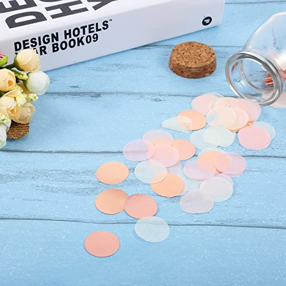 Cool Toner Confeti de papel de forma redonda de mesa 1,76 oz Oro ...