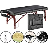 """Master Massage 31"""" Montclair Pro Therma - Top Portable Massage Table package, black with Memory Foam 1 count"""