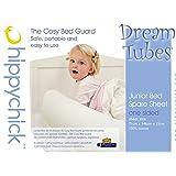 Hippychick DM020005HC1T - Sábana de repuesto para cama infantil, 1 lado, 70 x 140 cm, color blanco