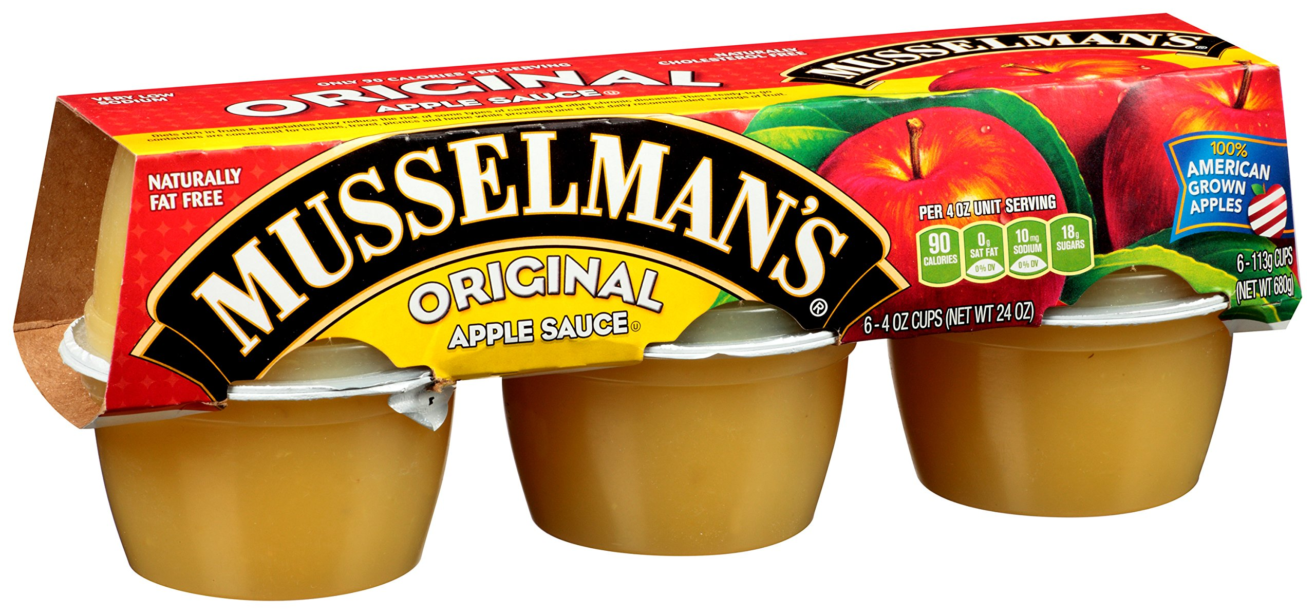 Musselman's Sweetened Applesauce, 4-Ounce Cups (Pack of 72)